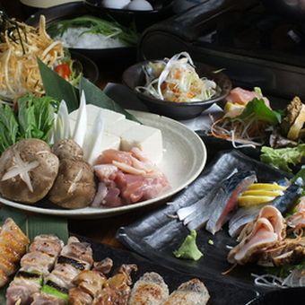 焼き鳥、刺身、逸品料理に鍋。どれも新鮮な素材を使って手作り。