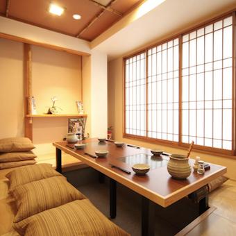 個室の掘りごたつ席で、接待や会食利用することもできます!