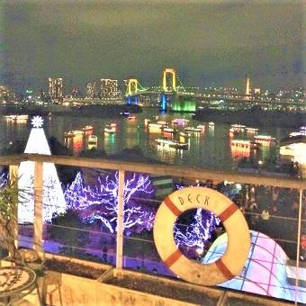 お台場デックス東京ビーチの景色は最高!デートにもオススメです♪