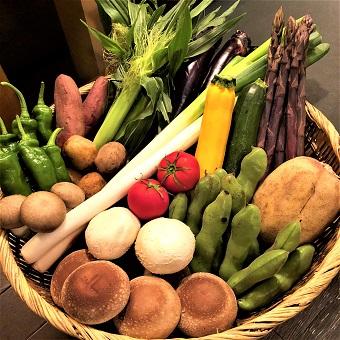 色鮮やかな旬野菜も炭火でいただきます♪