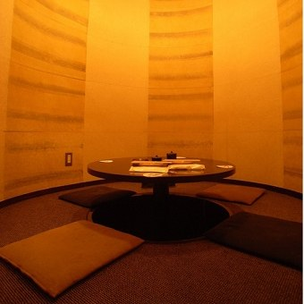 珍しい円卓個室座敷