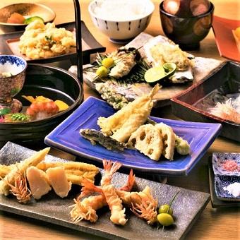 夜は天ぷらはもちろんお酒に合う逸品メニューが充実しています!