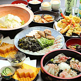 石川県産の食材にこだわった絶品料理の数々も順番に身につけましょう♪