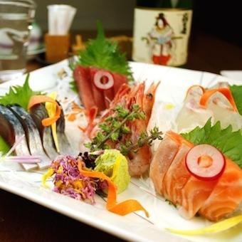 築地て?仕入れた鮮魚て?彩る旬の海鮮盛り!!.