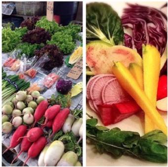 使っている鎌倉野菜。現地の人から直接買い付けています。鮮やかでとっても美味しい!