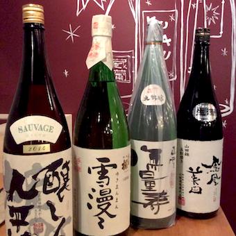 プレミアム日本酒も。年間通して100種以上の日本酒に触れる