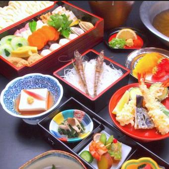 うどんすきのコースもあります。様々な和食を覚えよう!