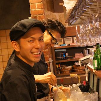 楽しみながら料理の腕を磨ける環境★ワイン蔵のようなお洒落なバル☆時給1100円♪