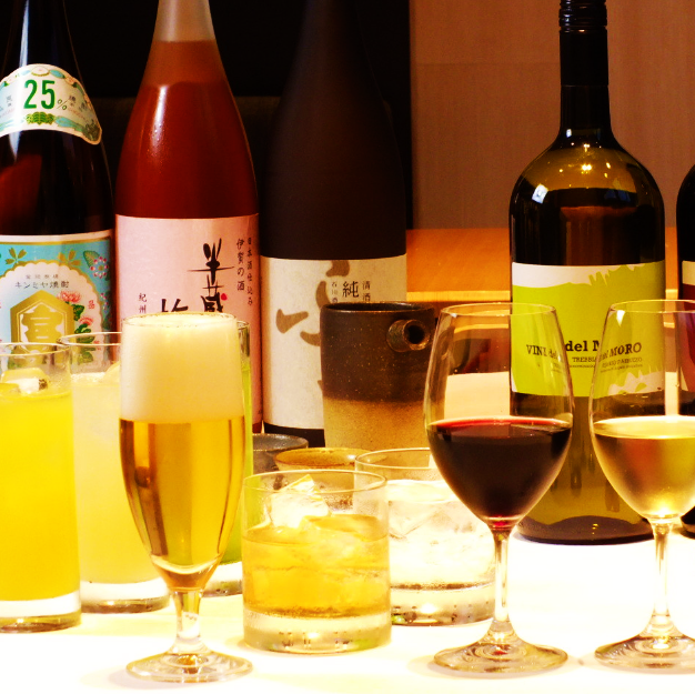 各種お酒も豊富に取り揃えているのでお酒の知識も身につきます♪