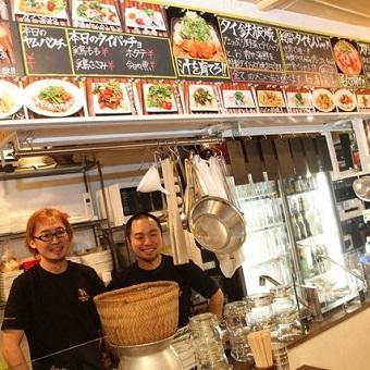 週2日・1日5時間〜OK★タイ料理を学びながら働けます☆有名人も訪れる恵比寿のお店