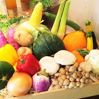 席からお客様の『シャキシャキ』と野菜の歯ごたえが聞こえてくるほど。こだわりの国産野菜を扱えます。