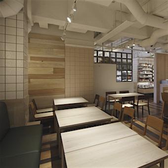 清潔感のあるモダンな雰囲気の店内。シンプルなテーブルに美しい料理を飾りましょう!