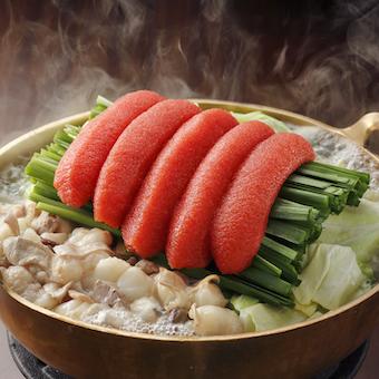 看板メニューは「明太もつ鍋」明太子販売で有名な福岡の「かねふく」の飲食部門が「ふく竹」
