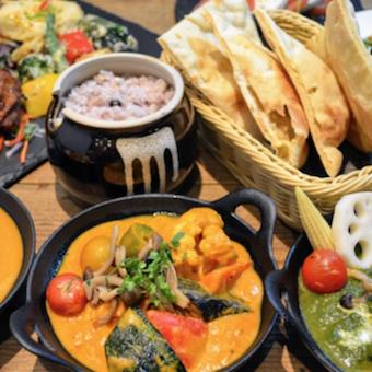 色とりどりのインド料理をご提供。インド料理好きさん大歓迎!