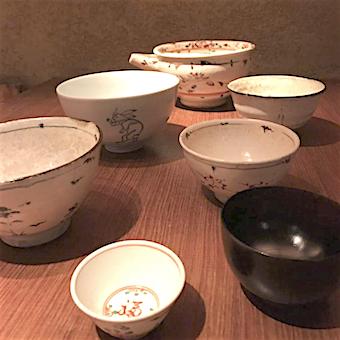 雑誌やテレビにも多数登場の天ぷら店の洗い場♪陶芸作家の器に触れられます☆