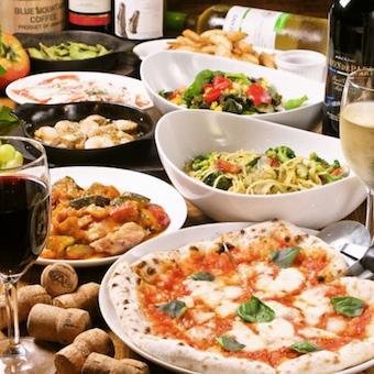 ワンコインで楽しめる本格窯焼きピザやイタリアンが自慢のお店。