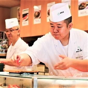 【最高時給1375円!】行列が絶えないお寿司の名店の本館‼技術を身に付けよう!