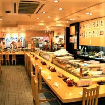<最高時給1375円!>行列が絶えないお寿司の名店の本館!接客スタッフ♪