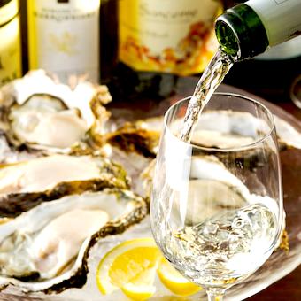 何百通りもある牡蠣とワインの組み合わせを学べますよ!