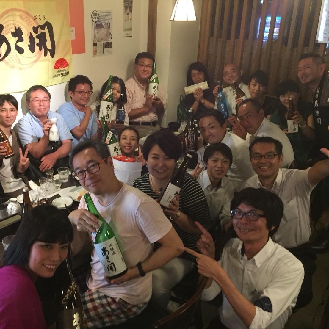 定期的に行われる蔵元さんとの交流会。お酒を知る、造り手を知るからこそ、おいしく提供できるんです。