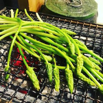 アスパラソバージュと言う珍しい野菜を扱うことも!産地直送の旬食材にこだわります!