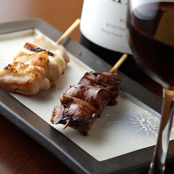 焼き鳥×ワイン♪個室でコース料理のみを提供する大人のお店!週払い可◎