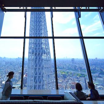 夜景・富士山・花火大会!絶景を楽しめる東京ソラマチ最上階のラウンジで接客♪待遇・環境もトップクラス◎