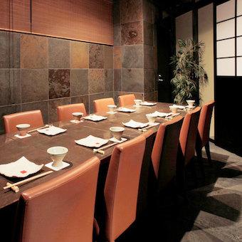 個室メイン、落ち着いた雰囲気のお店です。丁寧な接客と自慢の料理でおもてなし!