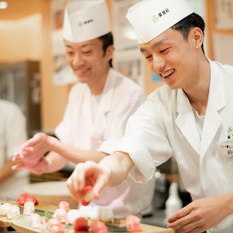 【最高時給1375円】お寿司の超人気店の本館で技術を身に付ける!2019年秋リニューアルオープン◎