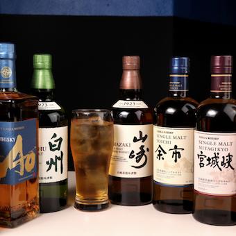 お酒は、ウイスキー、ワイン、クラフトビールなど洋酒が中心。マスターからお酒も学べます!