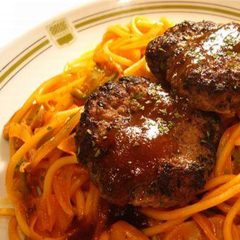 スパゲティにハンブルグ!美味しい料理を提供しましょう!
