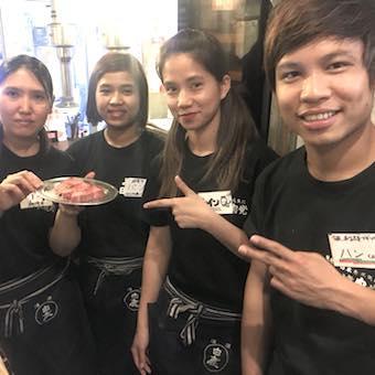 日本の笑顔をあなたの接客と最高級の焼肉で♪日本焼肉党の接客のバイト♪深夜勤務大募集中!