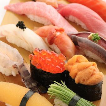 色とりどりの美味しいお寿司を提供!