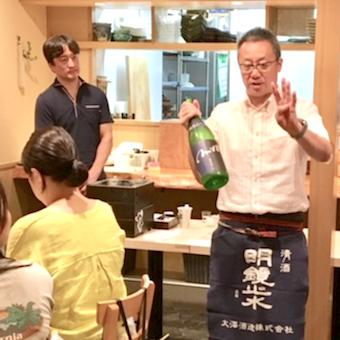 日本酒の勉強会も。毎日新しい日本酒を学べます。