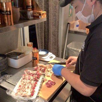 世田谷駅で常連さん多数の人気のやきとん居酒屋店で調理のお仕事!月8日休み